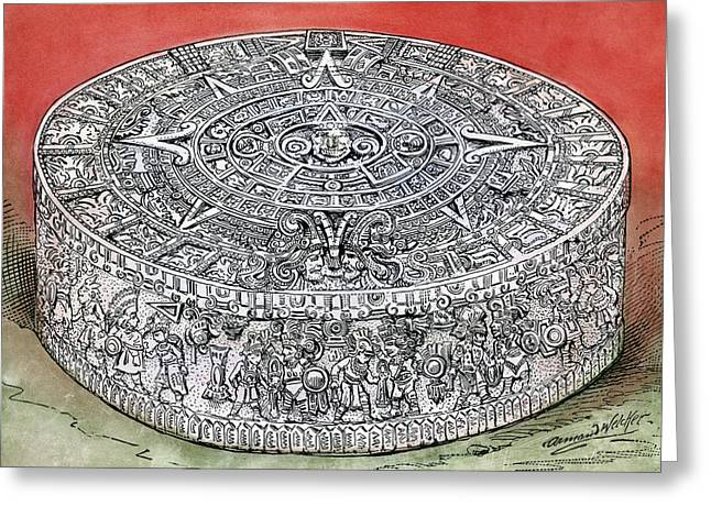 Mexico Stone Of The Sun Greeting Card