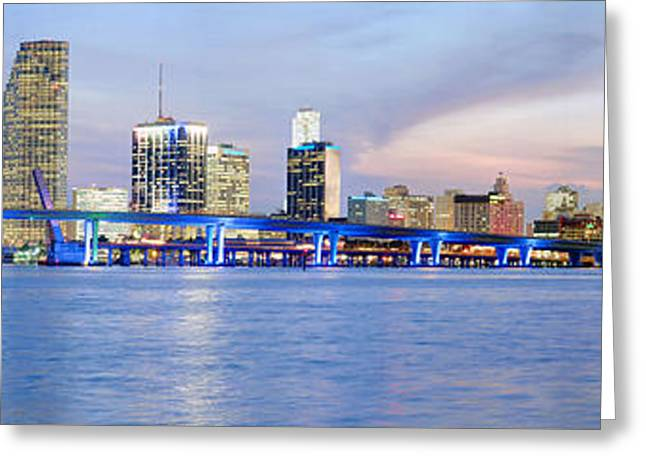 Greeting Card featuring the photograph Miami 2004 by Patrick M Lynch
