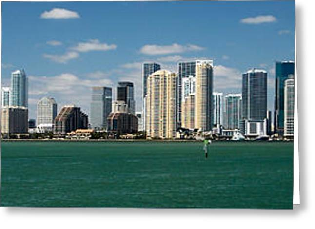Miami Greeting Card by Lawrence Boothby
