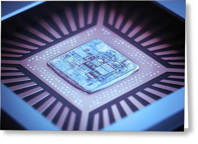 Microchip Greeting Card by Ktsdesign