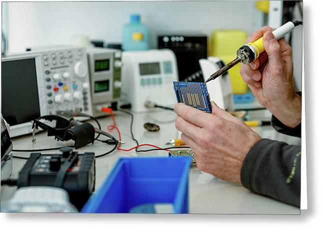 Microprocessor In Lab Greeting Card