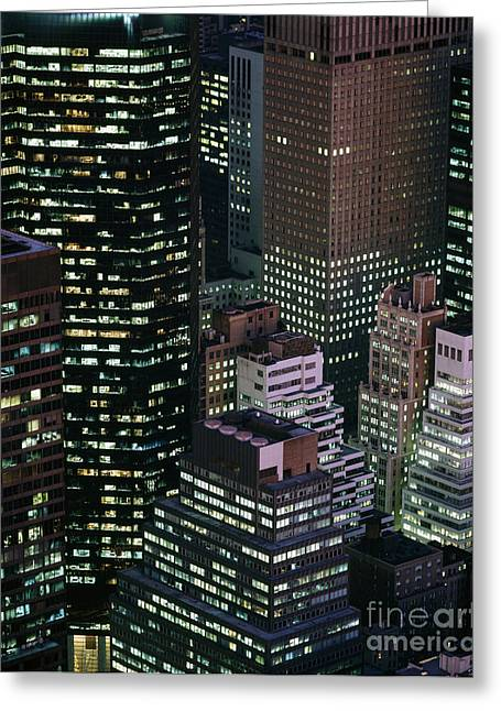 Midtown Manhattan Greeting Card by Rafael Macia