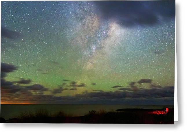 Milky Way Greeting Card by Luis Argerich
