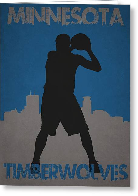 Minnesota Timberwolves Greeting Card by Joe Hamilton