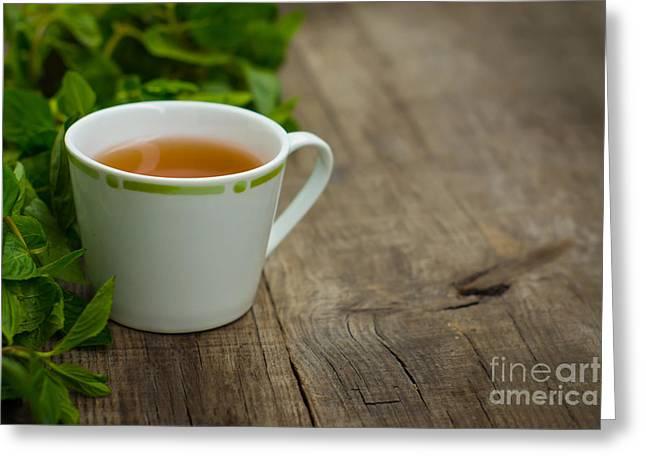 Mint Tea Greeting Card