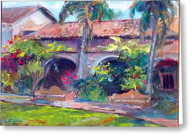 Mission San Juan Capistrano Greeting Card by Renuka Pillai