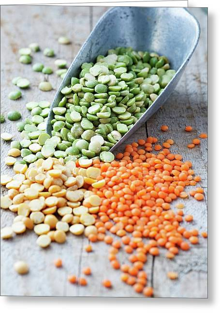 Mixed Selection Of Peas And Lentils Greeting Card