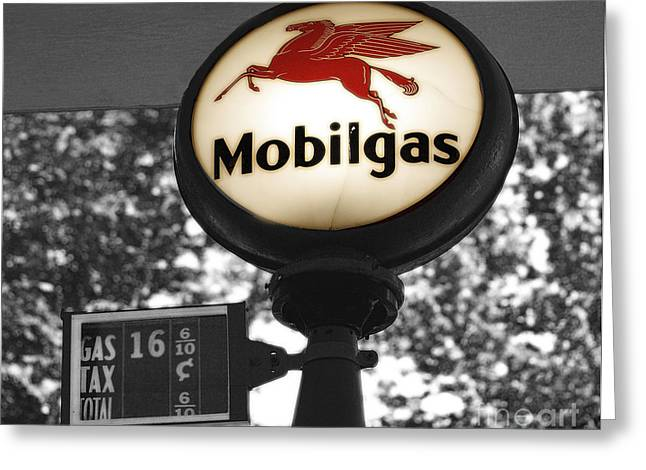 Mobil Gas Greeting Card