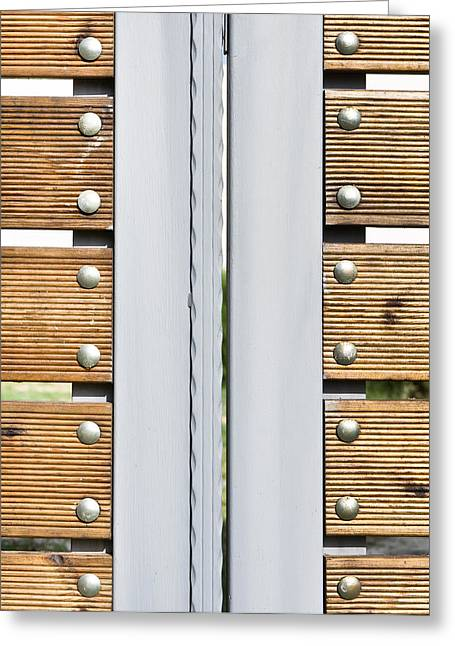 Modern Gate Greeting Card by Tom Gowanlock