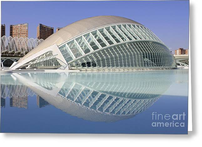 The Hemisferic In Valencia Spain Greeting Card