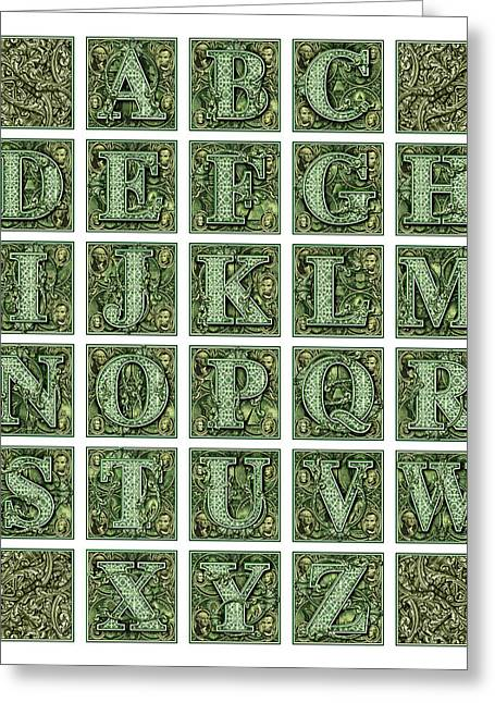 Money Alphabet Greeting Card
