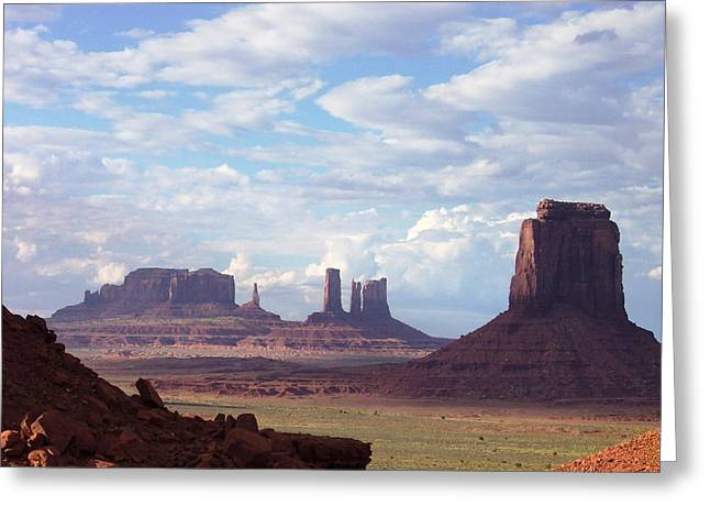 Monument Valley Greeting Card by Pamela Schreckengost