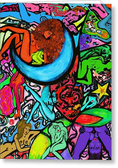 Moon Over Myamihot Greeting Card by Tiffany Selig