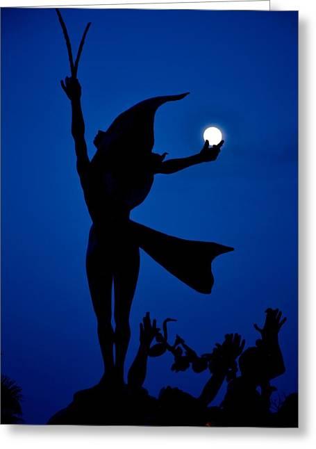 Greeting Card featuring the photograph Mooncatcher by Ricardo J Ruiz de Porras