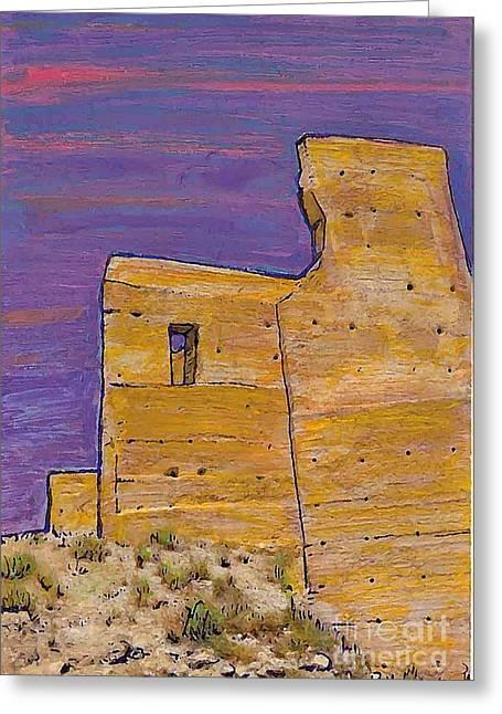 Moorish Fort In Jumilla Greeting Card by Sarah Loft