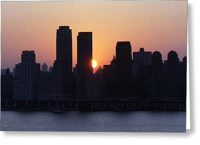 Greeting Card featuring the photograph Morning On The Hudson by Lilliana Mendez