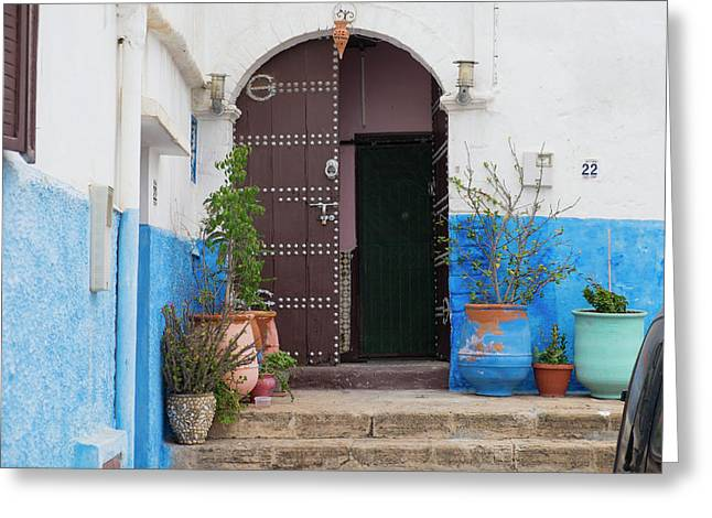 Morocco, Rabat, Sale, Kasbah Des Greeting Card by Emily Wilson