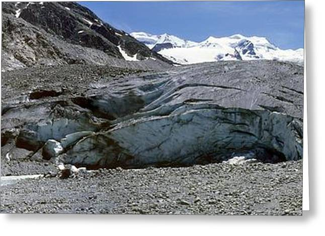 Morteratsch Glacier, Switzerland Greeting Card by Dr Juerg Alean
