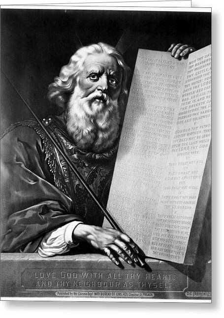 Moses Greeting Card by Granger