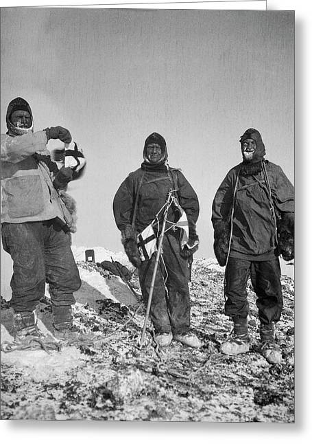 Mount Erebus Ascent Expedition Greeting Card by Scott Polar Research Institute