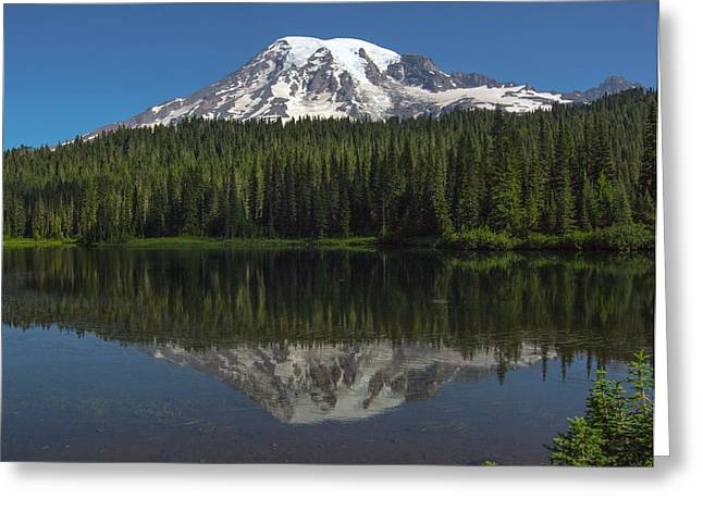 Mount Rainier From Reflection Lake Greeting Card