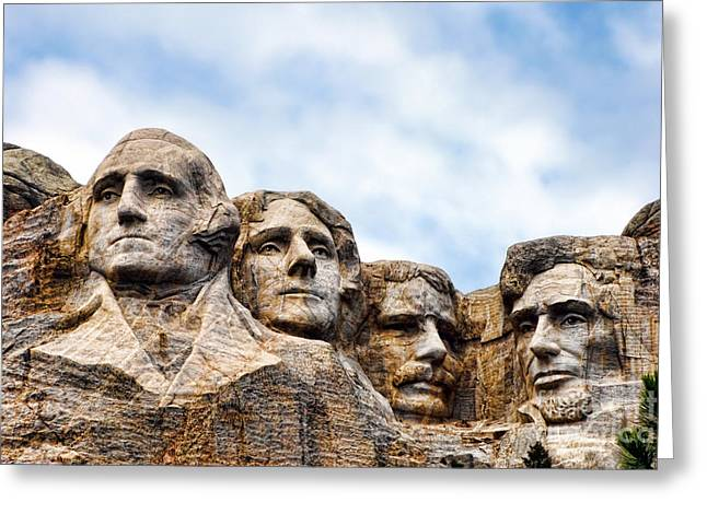 Mount Rushmore Monument Greeting Card by Olivier Le Queinec