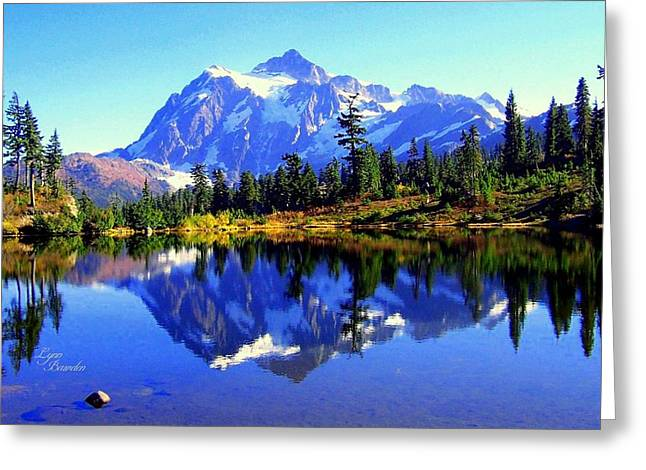 Mount Shuksan And Picture Lake Greeting Card by Lynn Bawden