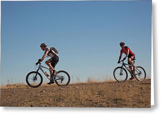 Mountain Bikers Greeting Card