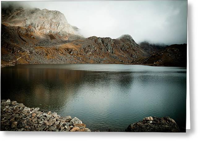 Mountain Lake Gosaikunda Himalayas Greeting Card