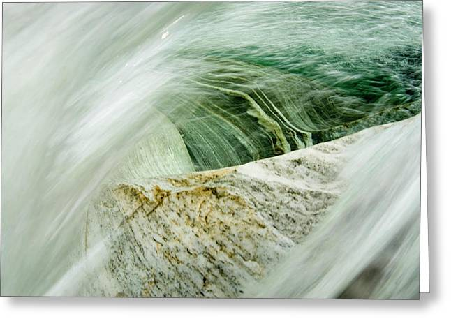Mountainriver In Lavertezzo, Tessin Greeting Card