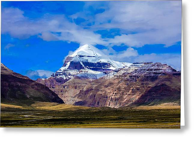 Mt Kailash. Greeting Card by Kirill Kamionsky