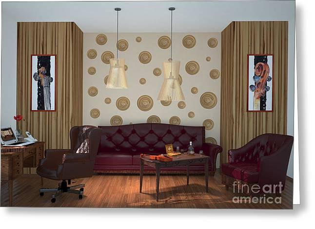 My Art In The Interior Decoration - Elena Yakubovich Greeting Card