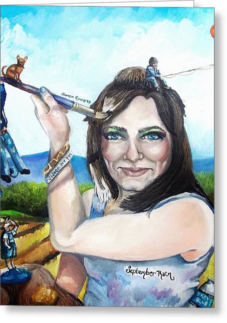 My Life As A Painter Greeting Card by Shana Rowe Jackson