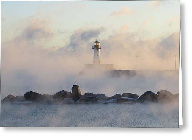 Mystic Morning Greeting Card by Alison Gimpel