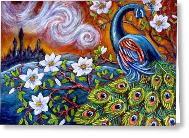 Mystic Peacock Greeting Card