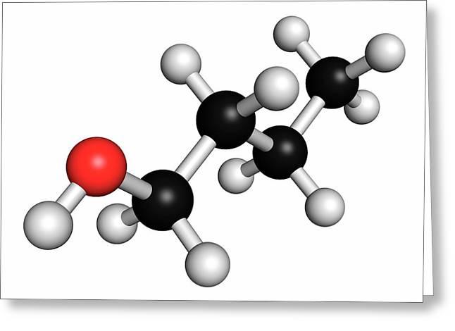 N-butanol Molecule Greeting Card