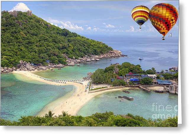 Nangyuan Island Greeting Card by Anek Suwannaphoom