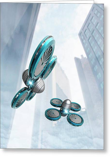 Nano Spy Drones Greeting Card by Victor Habbick Visions