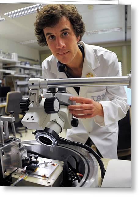 Nanopatterning Research Greeting Card