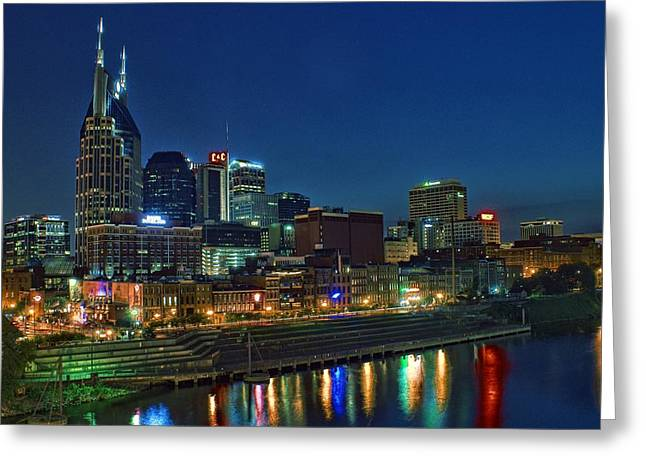Nashville Cityscape Greeting Card by Patrick Collins