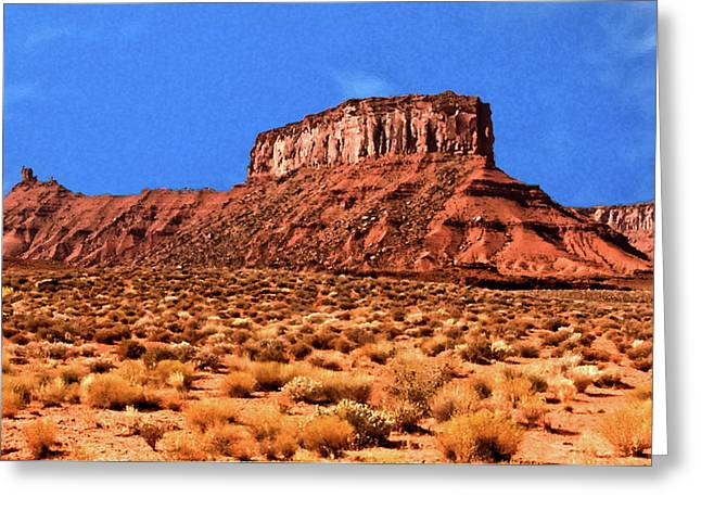 Greeting Card featuring the painting National Navajo Tribal Park by Bob and Nadine Johnston