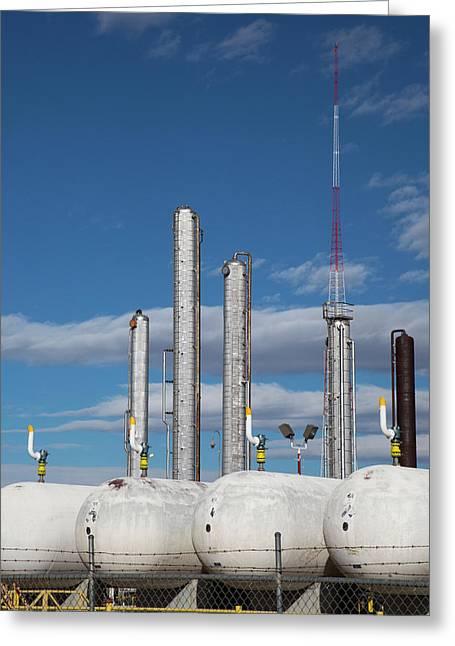 Natural Gas Processing Plant Greeting Card