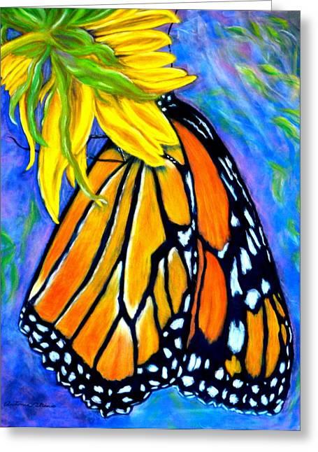 Natures Design   Pastel Greeting Card by Antonia Citrino
