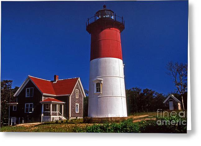 Nauset Beach Lighthouse Greeting Card by Skip Willits