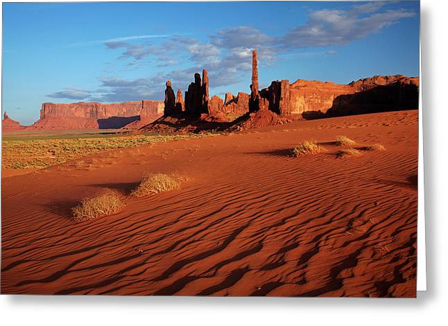 Navajo Nation, Monument Valley, Yei Bi Greeting Card by David Wall