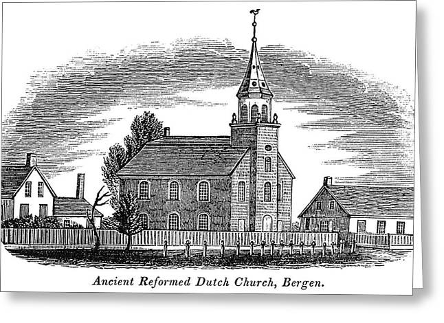 New Jersey Church, 1844 Greeting Card by Granger