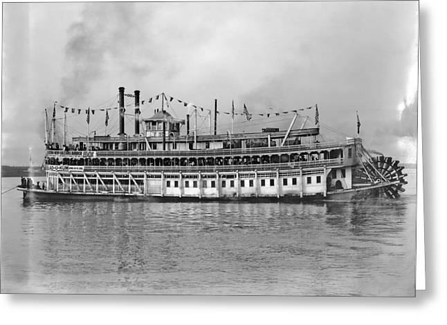 New Orleans Steamboat Greeting Card by Granger