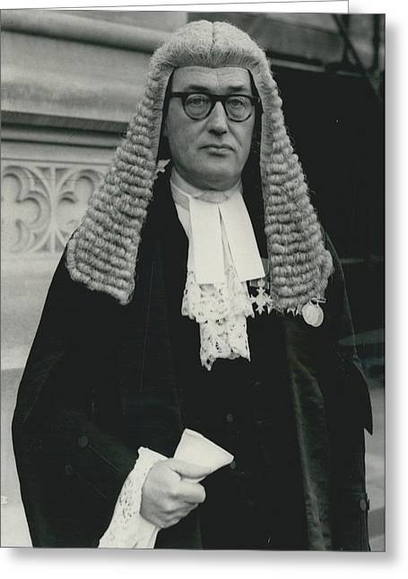 New Queen�s Counsel Sworn - In At House Of Lords Greeting Card by Retro Images Archive