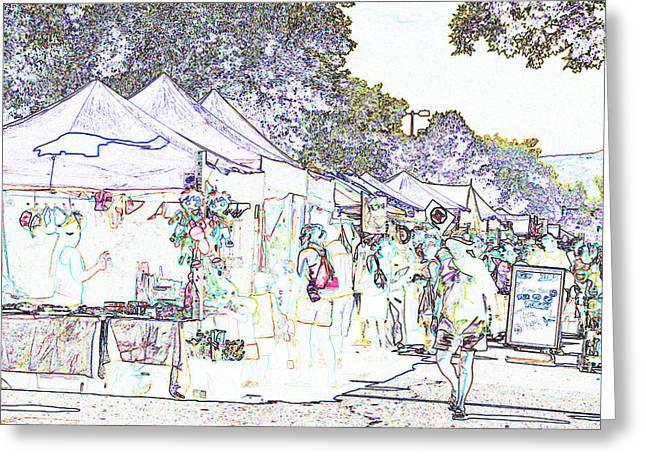 New West Fest Street Fair Greeting Card by Annie Johnson