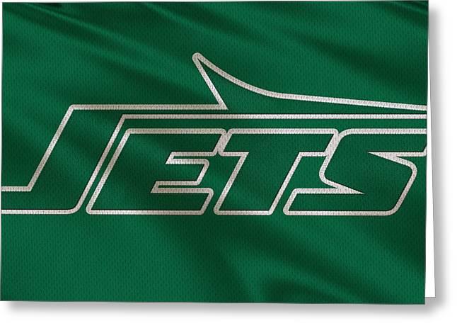 New York Jets Uniform Greeting Card by Joe Hamilton